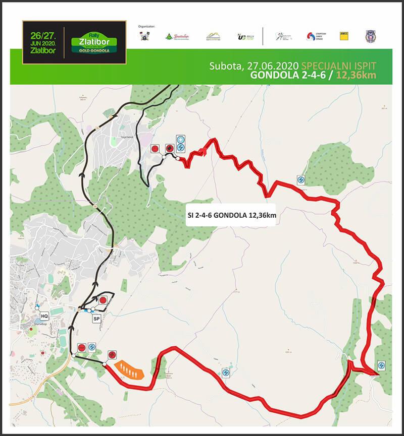 Jedna od trasa Zlatibor relija 2020.