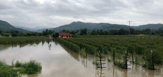 Arilje poplavljeni malinjaci i kuce