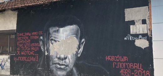 Uništen mural Nebojše Glogovca