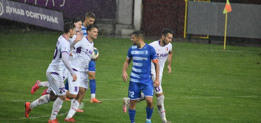 Kiša na utakmici Javor Matis-Metalac