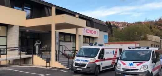Privremena Covid bolnica u krugu kasarne u Krčagovu