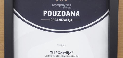 Gostilje sertifikat
