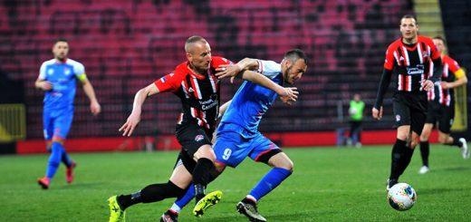 Fudbaler Slobode Gajić na meču sa Takovom