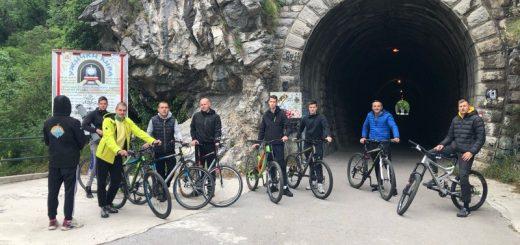 Biciklisti na Zelenoj stazi u Užicu